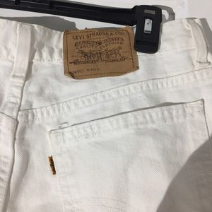 Levi's Shorts - Levis White Denim Shorts